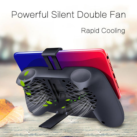 TOKOHANSUN Mobile Phone Cooler Cooling Fan Gamepad Holder Stand 1800 mAh Power Bank Radiator Mute