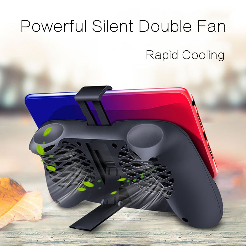 TOKOHANSUN Mobile Phone Cooling Pad Gaming Cooler Radiator Mute Fan Heatsink With Phone Stand Holder