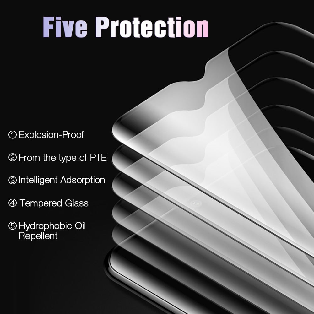 TOMKAS 6D Protective Glass For Oneplus 6T Tempered Glass Screen Protector Film For Oneplus 6 5 5T