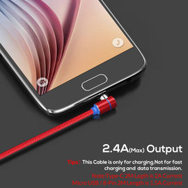 TOPK 90 Degree L Type Magnetic Cable , LED Magnet Charger Cable for iPhone Xs Max X 8 7 5 & Micro