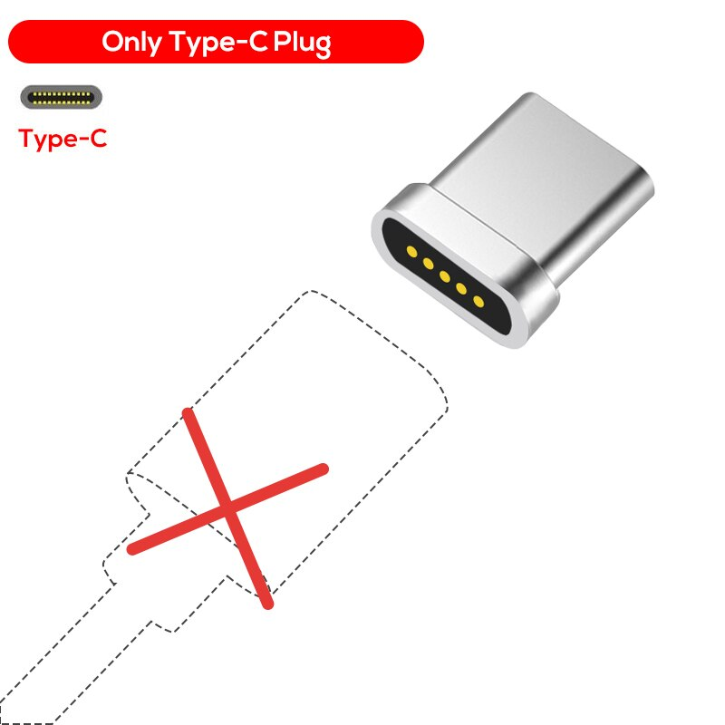 TOPK F-Line1 Magnetic Cable LED Indicator USB Type C Cable& Micro USB Cable Adapter Nylon Braided