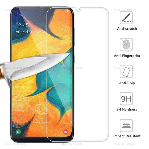 Tempered Glass For Samsung Galaxy A30 A50 Screen Protector 9H Safety Protective Film On A 30 SM