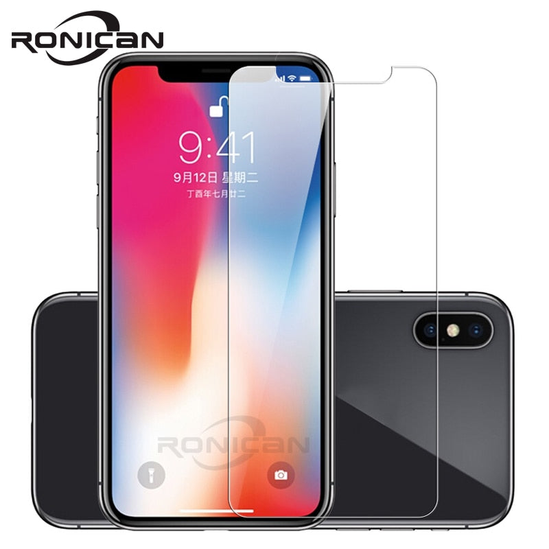 Tempered Glass on iPhone 8 Plus Screen Protector for iPhone 7 Plus Glass Film for iPhone X XS XR