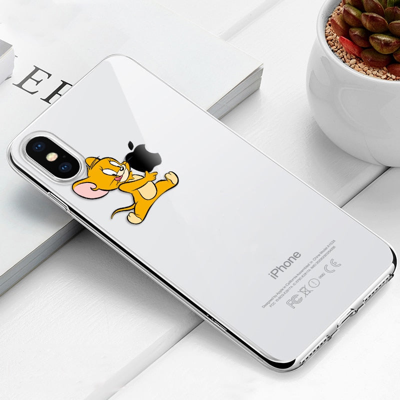 Transparent Soft TPU Phone Case For iPhone Xs Max Xs Xr 8 7 6 6S Plus 5 5S SE Silicone Back Cover