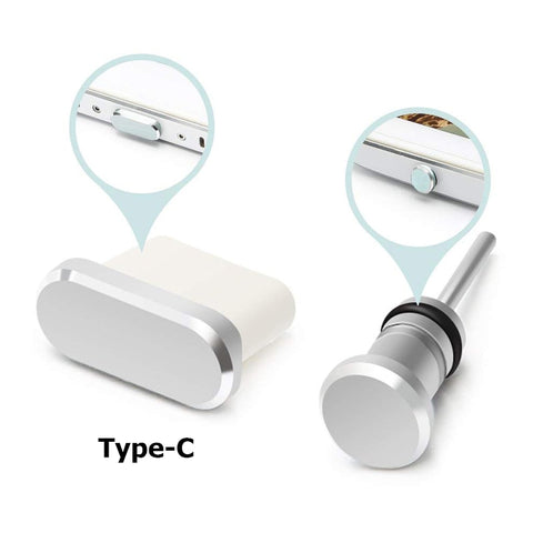 Type-C Phone Charging Port 3.5mm Earphone Jack Sim Card Type C Anti Dust Plug For Samsung S10 S9