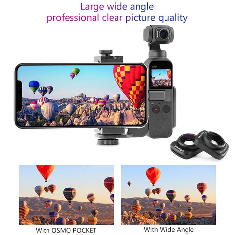 ULANZI OP-5 Wide Angel Lens for DJI Osmo Pocket, Magnetic Wide Angel Camera Lens for DJI OSMO Pocket