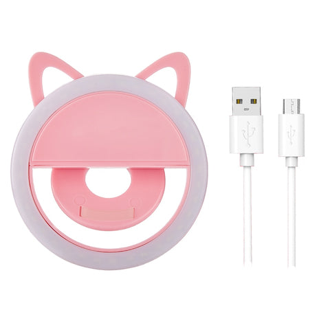 USB Charge Selfie Ring Led Light Lamp Mobile Phone Lens LED Selfie Lamp Ring Flash for iPhone for