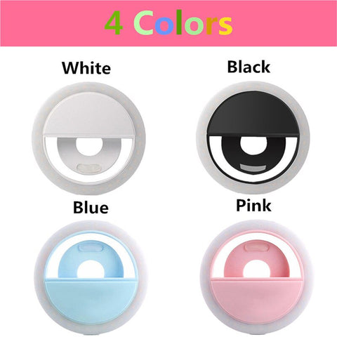 USB Charge led selfie lamp Portable Flash Led Camera Phone Photography Ring Light Enhancing Photography for iPhone smartphone