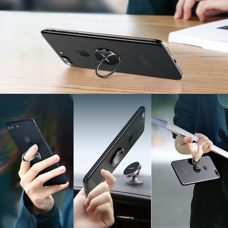 Ugreen Finger Ring Holder for Samsung S9 360 Degree Mount Holder Stand Mobile Phone Finger Phone
