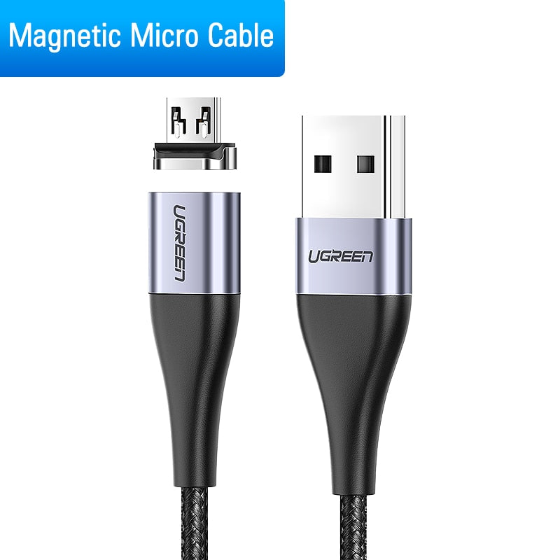 Ugreen Magnetic USB Cable Fast Charging USB Type C Cable Magnet Charger Data Charge Micro USB