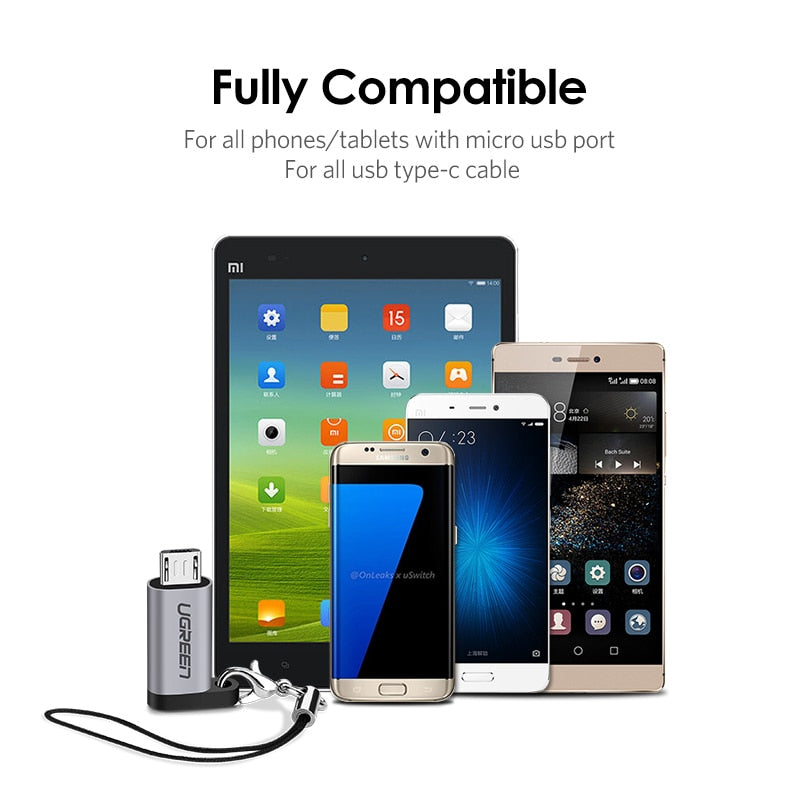 Ugreen Mobile Phone Adapter Micro USB to USB C Adapter Microusb Connector For Huawei Xiaomi