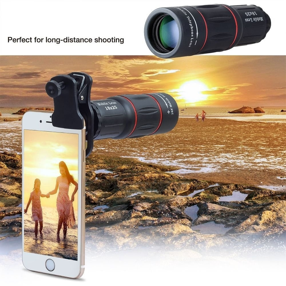 Universal 18X Telescope Optical Zoom Mobile Phone Lens for iPhone Samsung XIAOMI Smartphones clip