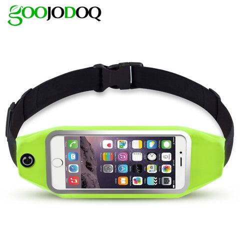 Universal 6 inch Waterproof Sport GYM Running Waist Belt Pack Phone Case Bag Armband for iPhone X