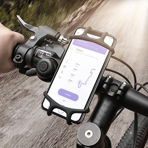 Universal Bike Bicycle Motorcycle Mobile Phone Silicone Holder Buckle Pull Nonslip Cellphone GPS