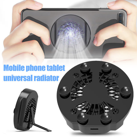 Universal Mobile Phone USB Cooler Cooling Fan Gamepad Holder Stand Bank Radiator Mute Fan For Tablet