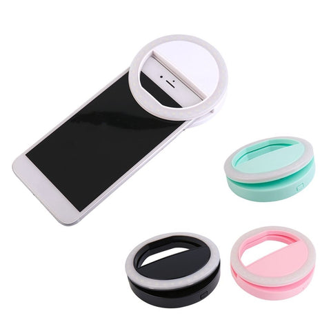 Universal Portable LED Flash Fill Light Up Selfie Luminous Lamp Phone Ring For iPhone 6 6S Plus 7