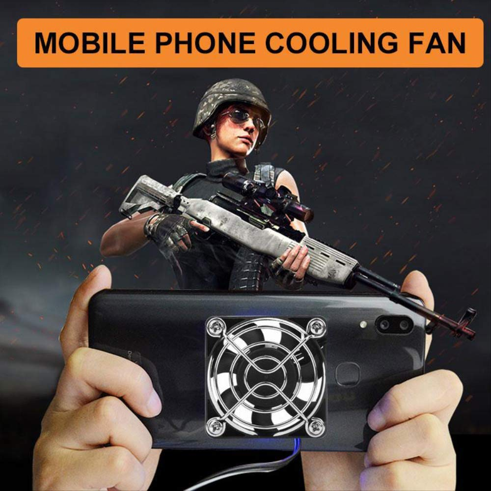 Universal Portable Mobile Phone Cooler USB Cooling Pad Cooler Fan Gamepad Game Gaming Shooter Mute