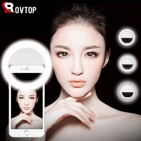 Selfie Lamp Mobile Phone Lens Portable Flash Ring 36 LEDS Luminous Ring Clip Light