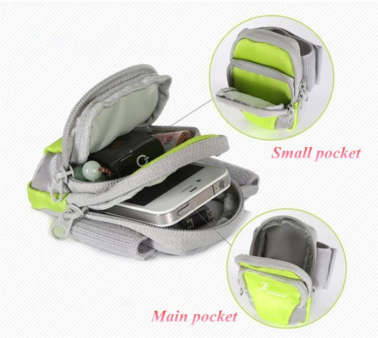 Universal Sports Armband Case Zippered Fitness Running Arm Band Bag Pouch Jogging Workout Cover