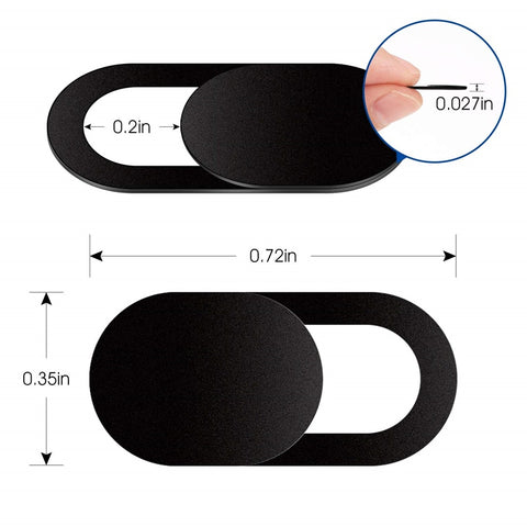 Universal WebCam Cover Ultra Thin Shutter Magnet Slider Camera Lens Cover