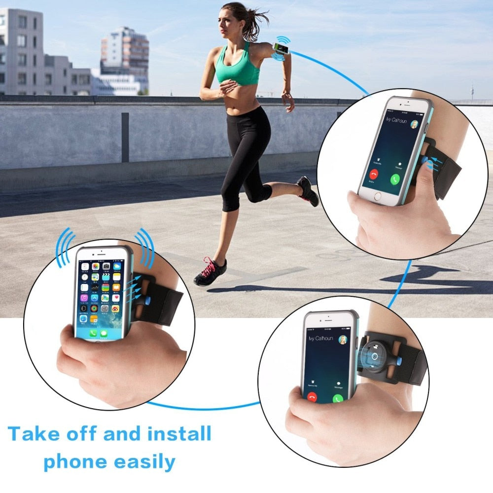 Unverise Phone Cases Sport Armband handbag phone holder for phone on hand Cover Running Arm Band