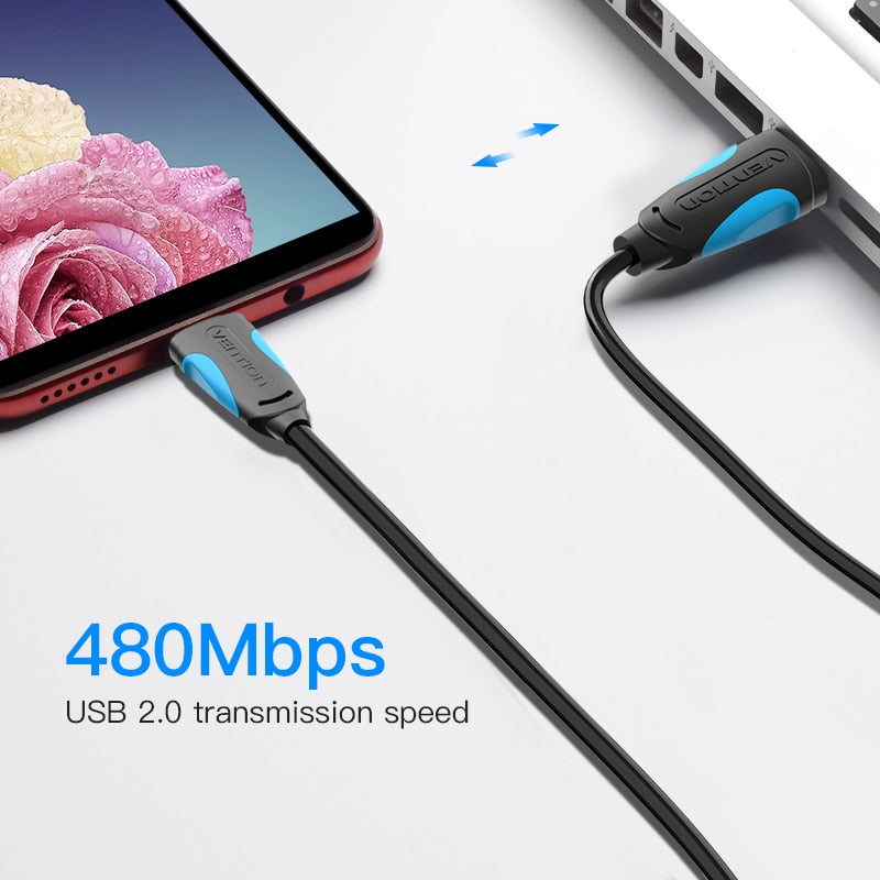 Vention Micro USB Cable Fast Charging Wire for Android Mobile Phone Data Sync Charger Cable 3M 2M 1M