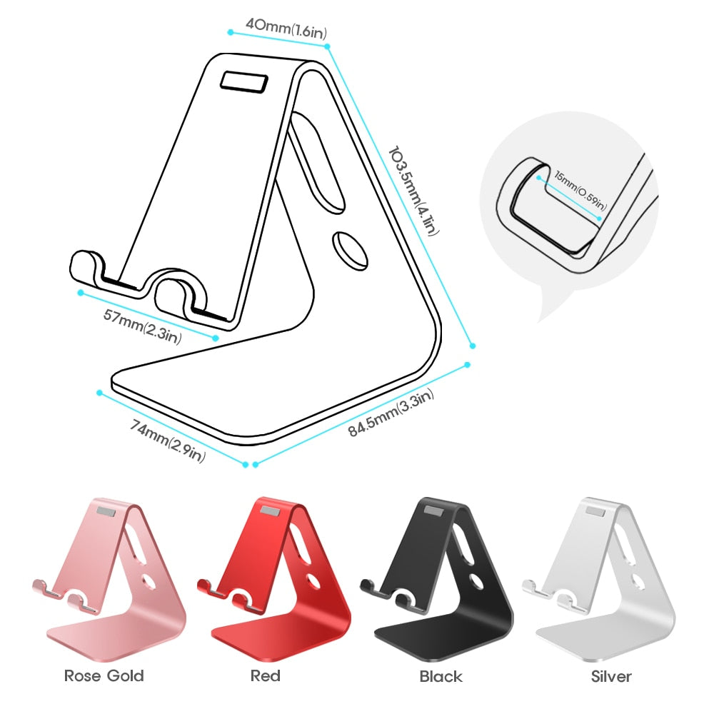 Vogek Mobile Phone Holder Stand Aluminium Alloy Metal Tablet Stand Universal Holder for iPhone