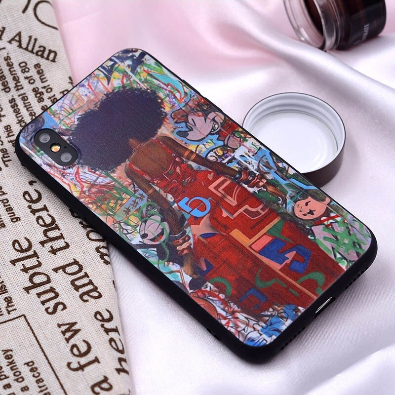 XIX for Funda iPhone X Case 5 5S 6 6S 7 8 Plus X XS Max XR African Girls for Cover iPhone 7 Case