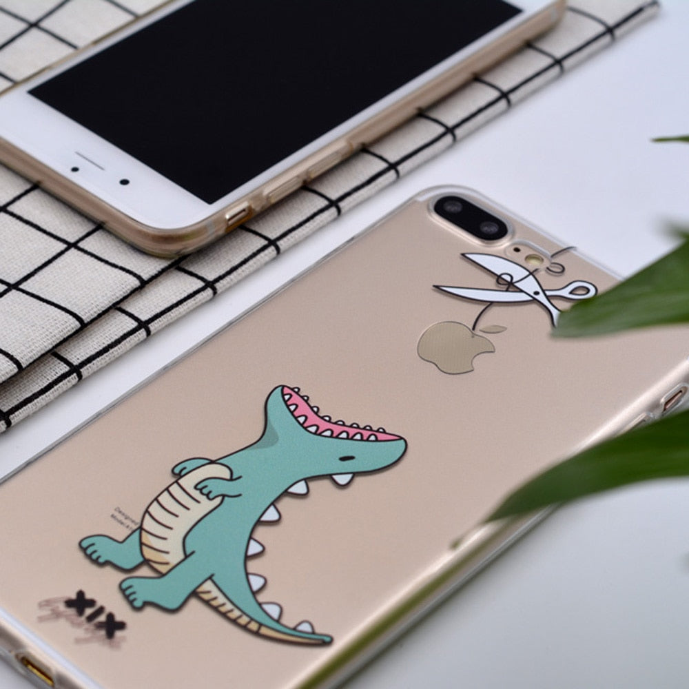 XIX for Funda iPhone X Case 5C 5 5S SE 6 6S 7 8 Plus XS Max Cute Animal for Cover iPhone 7 Case Soft