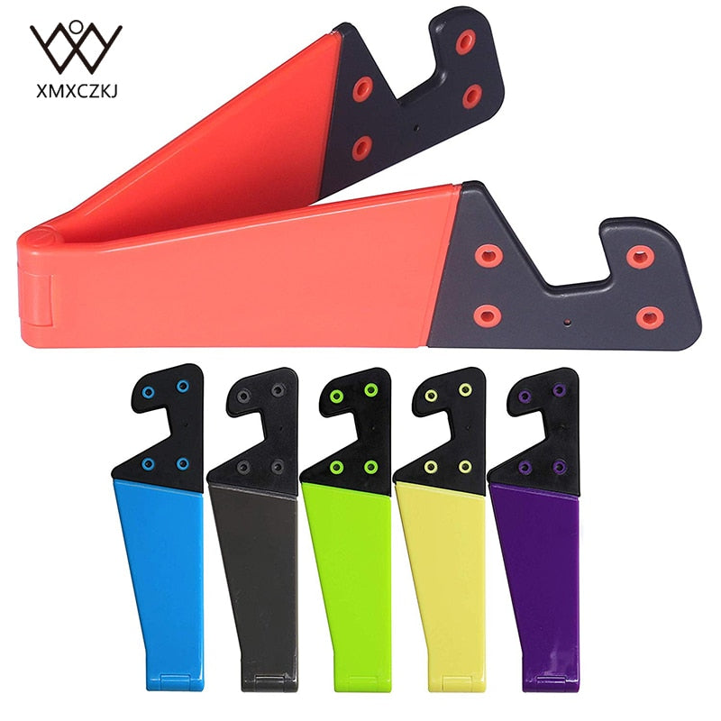 XMXCZKJ 1Pcs Universal Desktop Stand Colorful Portable Foldable V model Mobile Phone Mount Holder