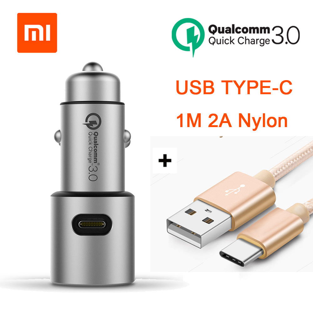 Xiaomi Car Charger Original Xiao Mi Car Charger QC 3.0 Dual USB Quick Charge Max 5V/3A Metal For