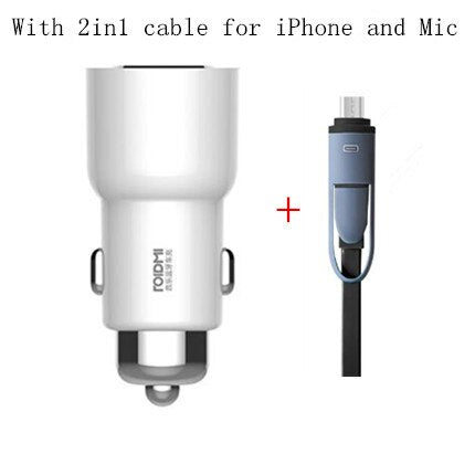 Xiaomi ROIDMI 3S Bluetooth Car Charger FM Transmitter 5V 3.4A Quick Car Charger MP3 Music Player for