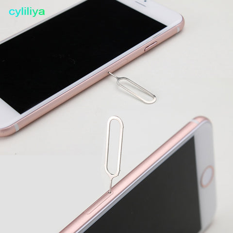 cyliliya 1000 Pcs Sim Card Tray Remover Eject Ejector Pin Key open Tool for iPhone 7 4s 5 5s 5c 6 6s