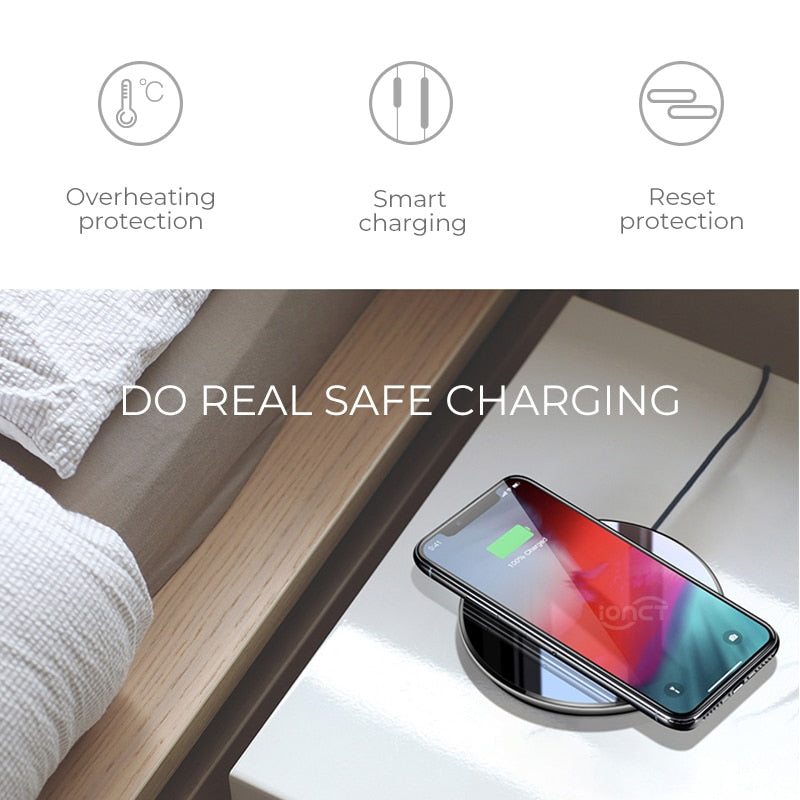 15W Qi Wireless Charger for iPhone X XR XS Max 8 fast wireless Charging
