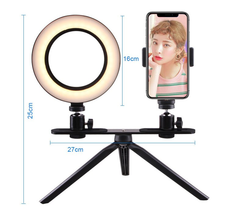 led selfie ring light camera smartphone Photography usb Dimmable  Phone Ring Lamp Tripods For Makeup