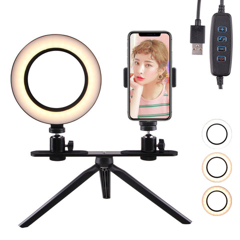 led selfie ring light camera smartphone Photography usb Dimmable  Phone Ring Lamp Tripods For Makeup Youtube Video Live Studio