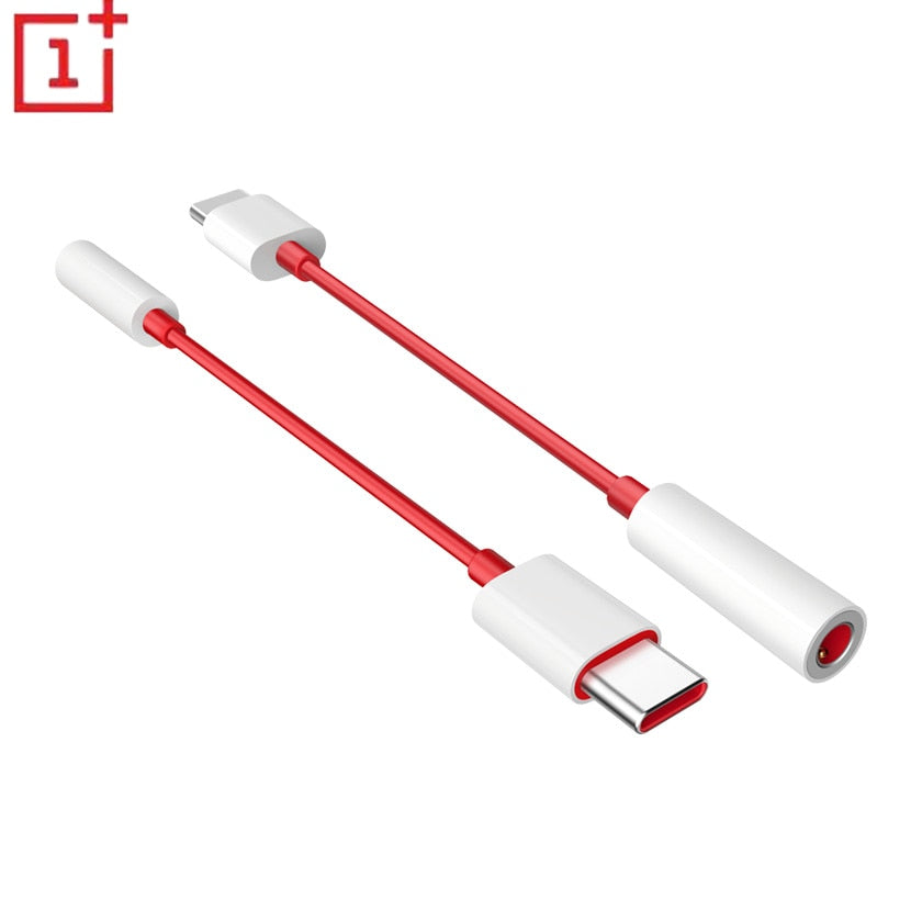 original oneplus 6T 7 Pro usb Type C To 3.5mm Earphone Jack Adapter Aux Audio For one plus 7 1+ 6t