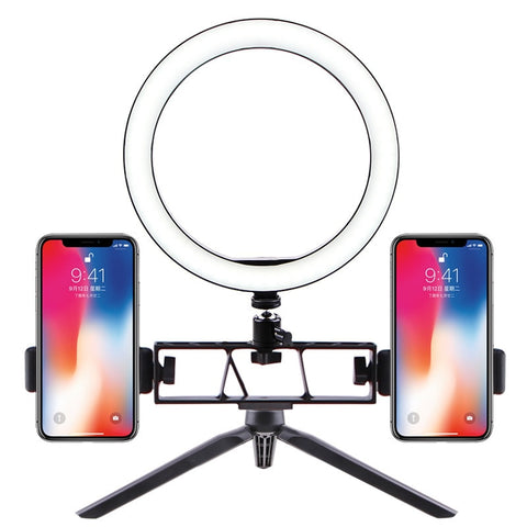 selfie ring light usb Interface Dimmable LED Camera Phone Photography Video Makeup Lamp With Tripod cell Phone Clip with holder