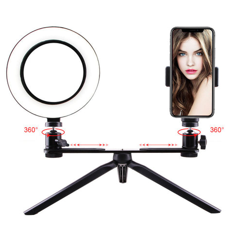 smartphone Photography LED Selfie Ring Light usb Dimmable Camera Phone Ring Lamp/Table Tripods For Makeup Video Live Studio