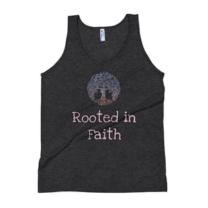 Rooted in Faith Unisex Tank Top - Ding's Place