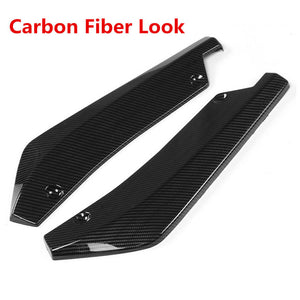 A Pair Rear Bumper Lip Angle Splitters Diffuser Side Skirt Extensions Universal - Ding's Place