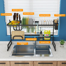 Load image into Gallery viewer, Kitchen Shelf Organizer Dish Drying Rack Over Sink Utensils Holder Bowl Dish Draining Shelf Kitchen Storage Countertop Organizer - Ding's Place