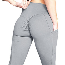 Load image into Gallery viewer, SVOKOR High Waist Polyester Leggings Women Pocket Slim Fit Ankle-Length Pants Breathable Elasticity Fitness Female Legging - Ding's Place