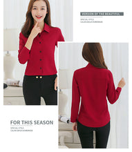Load image into Gallery viewer, BIBOYAMALL Blouse Women Chiffon Office Career Shirts Tops Casual Long Sleeve Blouses Femme Blusa - Ding's Place