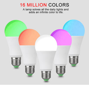 EeeToo RGB Bluetooth 4.0 LED Smart Bulb E27/B22 15W APP Music Voice Control Smart Light Lamp Multiple Colors LED Light for Home - Ding's Place