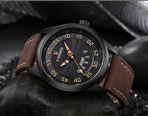 NEW Luxury Brand NAVIFORCE Men Fashion Sport Watches Men's Quartz Clock Man Leather Army Military Wrist Watch relogio masculino - Ding's Place