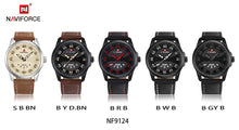 Load image into Gallery viewer, NEW Luxury Brand NAVIFORCE Men Fashion Sport Watches Men's Quartz Clock Man Leather Army Military Wrist Watch relogio masculino - Ding's Place