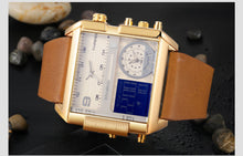 Load image into Gallery viewer, BOAMIGO Top Luxury Brand Me Sports Watches Man Military chronograph digital Watch Leather Quartz Wristwatches Relogio Masculino - Ding's Place