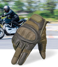 Load image into Gallery viewer, Touchscreen PU Leather Motorcycle Hard Knuckle Full Finger Gloves Protective Gear Racing Biker Riding Motorbike Moto Motocross - Ding's Place