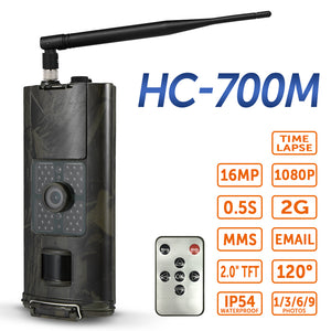 Cellular Hunting Camera 2G GSM MMS SMS SMTP Trail Camera Mobile 16MP Night Vision Wireless Wildlife Surveillance HC700M - Ding's Place